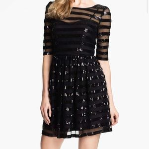 Max and Cleo Sequin Cocktail Dress